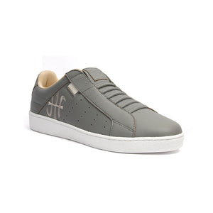 Men's Icon Classic Gray White Leather Sneakers 02092-880 - ROYAL ELASTICS