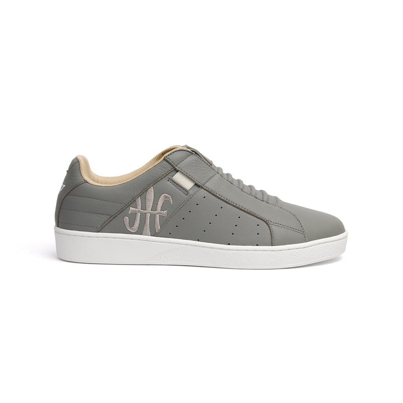 Men's Icon Classic Gray White Leather Sneakers 02092-880
