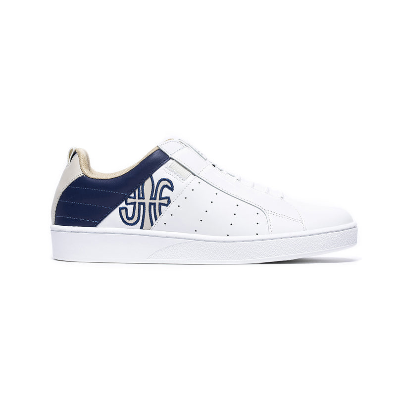 Men's Icon Manhood White Blue Leather Sneakers 02094-050