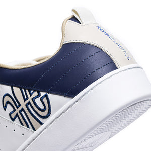 Men's Icon Manhood White Blue Leather Sneakers 02094-050 - ROYAL ELASTICS