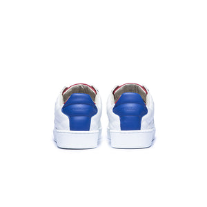 Men's Icon SBI White Blue Leather Sneakers 02502-015