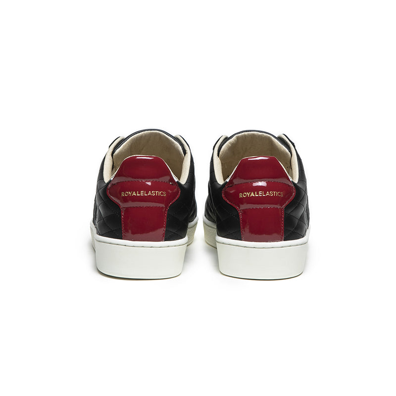Women's Icon Lux Black Red Leather Sneakers 92503-910