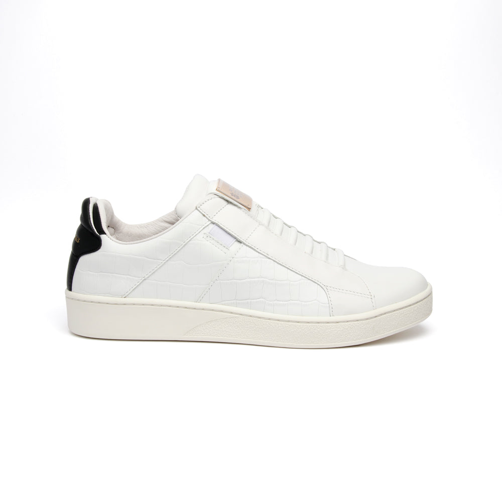 Men's Icon SBI White Black Leather Sneakers - ROYAL ELASTICS