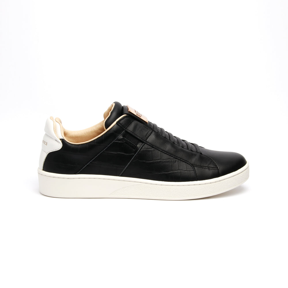 Men's Icon SBI Black White Leather Sneakers - ROYAL ELASTICS