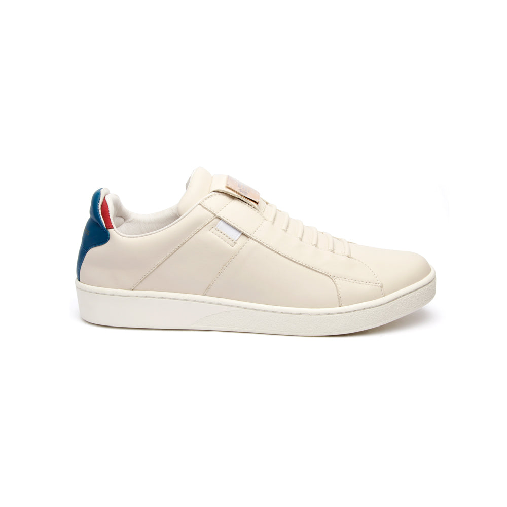 Men's Icon SBI Gray Blue Red Leather Sneakers