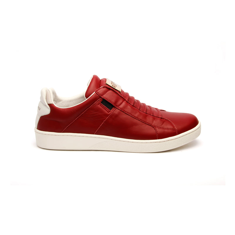 Men's Icon SBI Wine Red Leather Sneakers - ROYAL ELASTICS