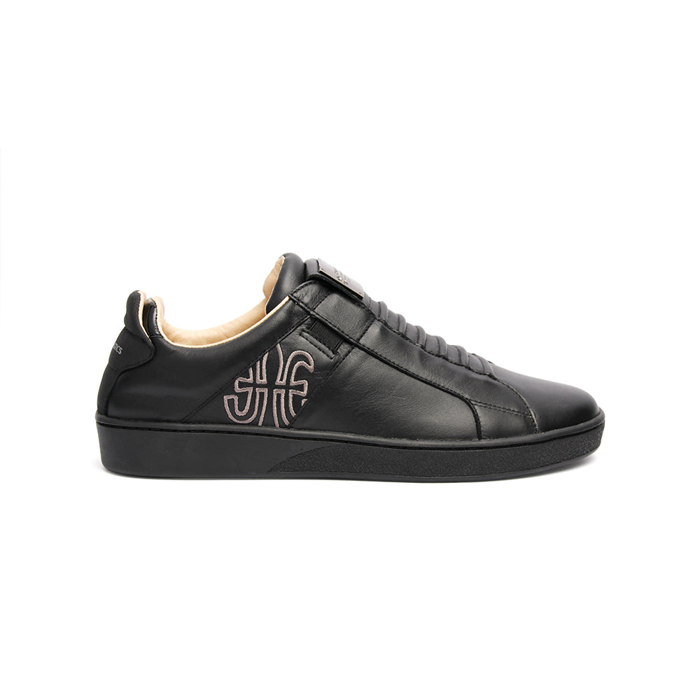 Men's Icon SBI Black Leather Sneakers 02592-999 - ROYAL ELASTICS