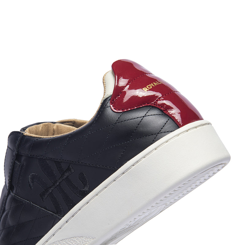 Men's Icon SBI Black Red Leather Sneakers 02594-910 - ROYAL ELASTICS