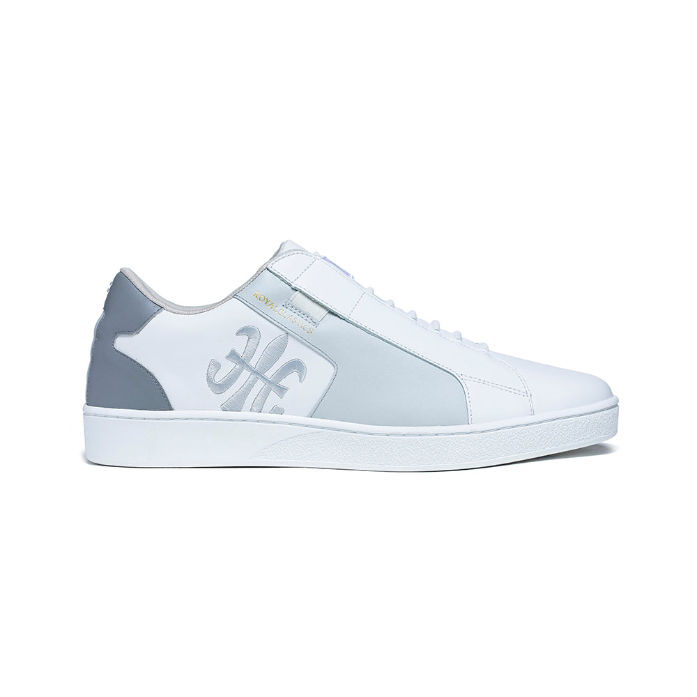 Men's Adelaide White Gray Leather Sneakers 02601-088