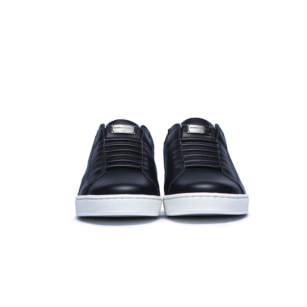Men's Adelaide Black  Leather Sneakers 02601-995