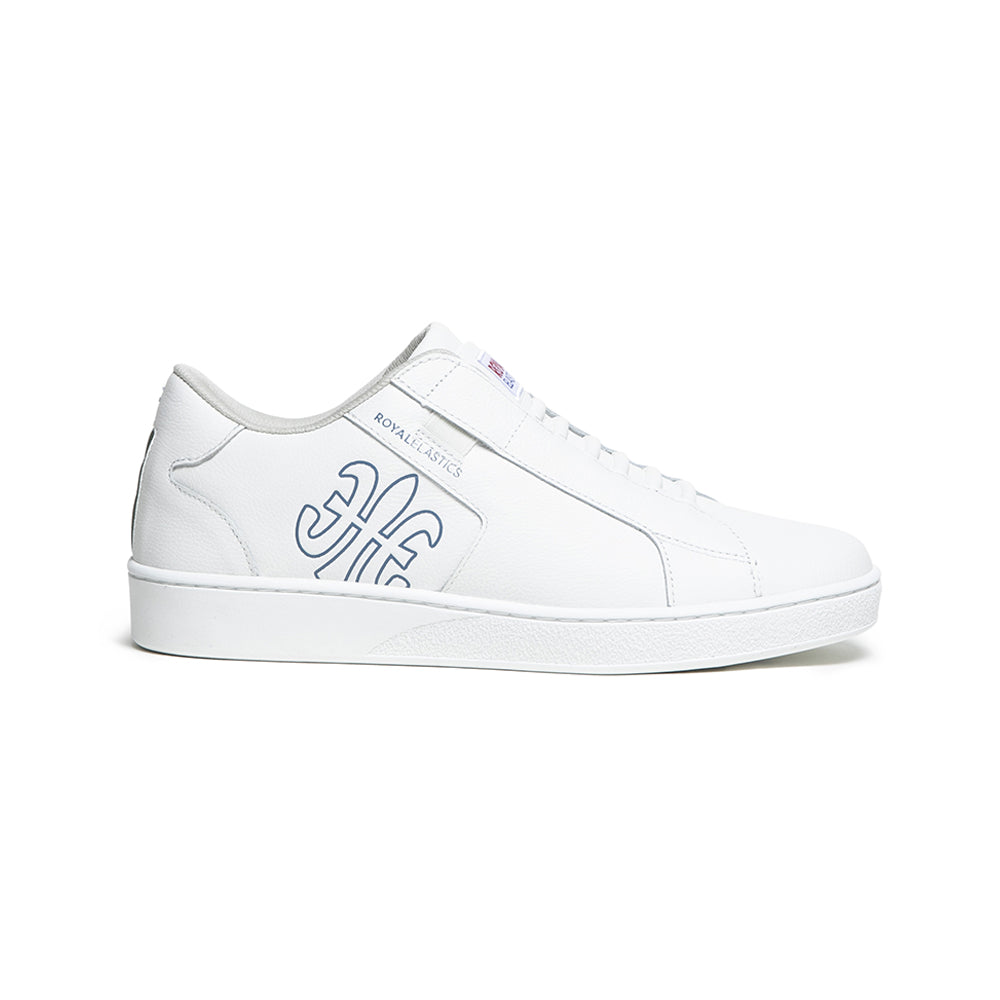 Men's Adelaide White Blue Leather Sneakers 02603-054