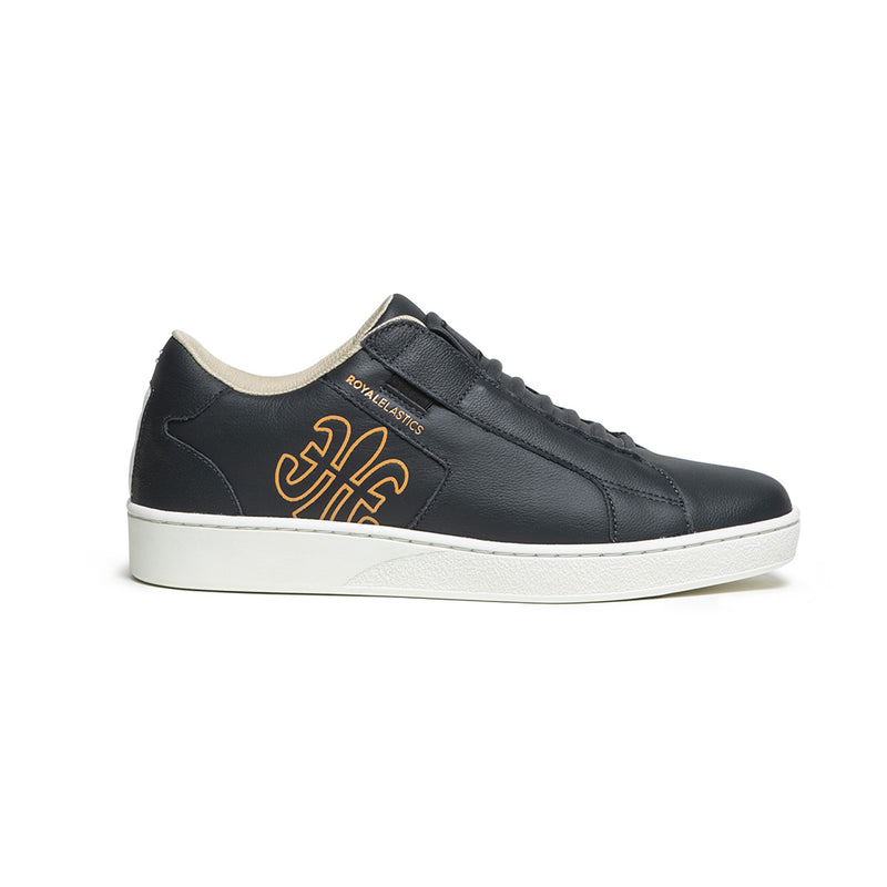 Men's Adelaide Black Orange Leather Sneakers 02603-992