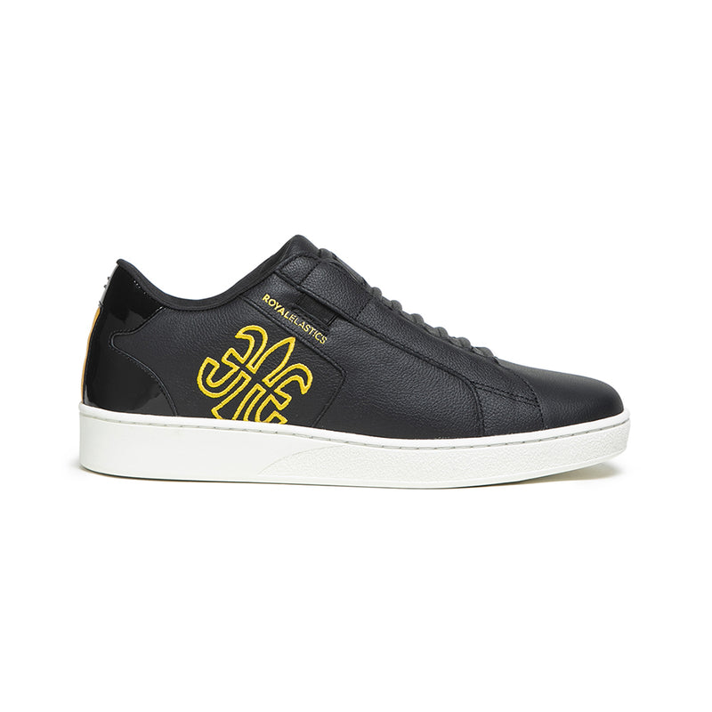 Men's Adelaide Black Yellow Leather Sneakers 02603-993