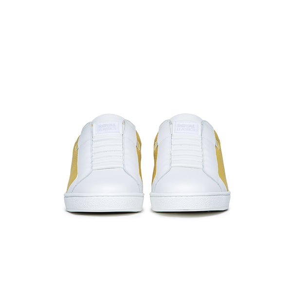 Men's Adelaide White Yellow Gray Leather Sneakers 02612-038