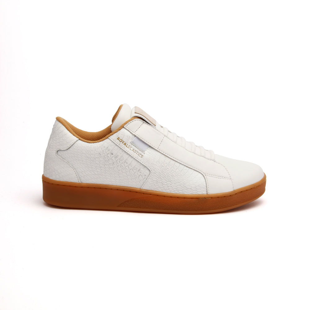 Men's Adelaide White Leather Sneakers 02683-000 - ROYAL ELASTICS