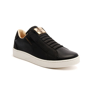 Women's Adelaide Black Leather Sneakers - ROYAL ELASTICS