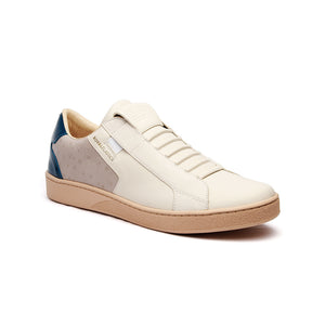Men's Adelaide White Gray Blue Leather Sneakers 02684-085 - ROYAL ELASTICS