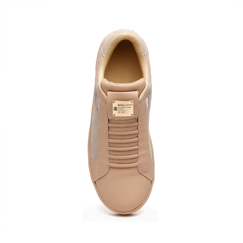 Women's Adelaide Toasted Almond Leather Sneakers 92684-777 - ROYAL ELASTICS