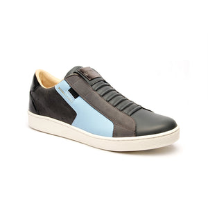 Men's Adelaide Castlerock Gray Blue Leather Sneakers 02684-885 - ROYAL ELASTICS