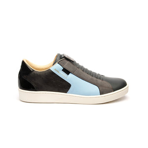 Men's Adelaide Castlerock Gray Blue Leather Sneakers - ROYAL ELASTICS