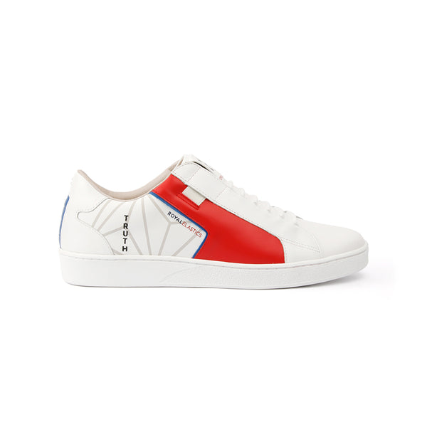 Men's Adelaide White Red Leather Sneakers 02693-015 - ROYAL ELASTICS