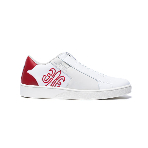 Men's Adelaide Red White Leather Sneakers 02694-001 - ROYAL ELASTICS