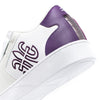 Men's Adelaide Purple White Leather Sneakers 02694-006
