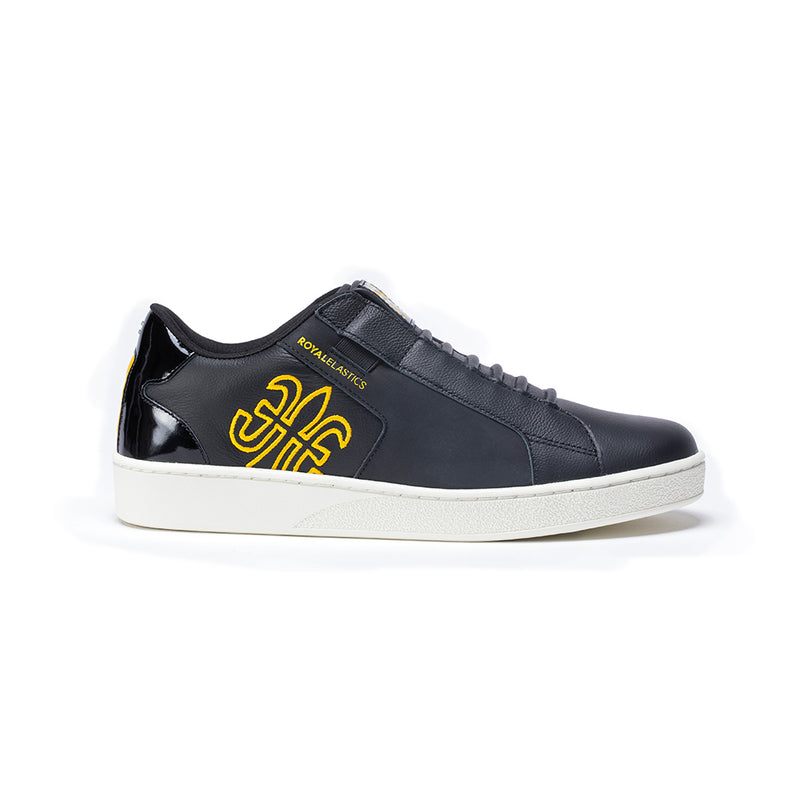 Men's Adelaide Black Yellow Leather Sneakers 02694-993