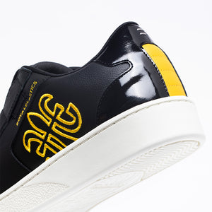 Men's Adelaide Black Yellow Leather Sneakers 02694-993 - ROYAL ELASTICS