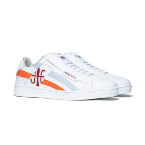 Men's Icon Cross White Orange Red Leather Sneakers 02901-028 - ROYAL ELASTICS