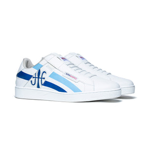 Men's Icon Cross White Blue Leather Sneakers 02901-055 - ROYAL ELASTICS