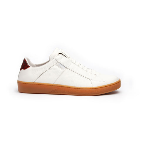 Men's Icon Urbanite White Red Leather Sneakers 02982-010