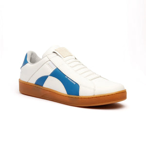 Men's Icon Dots White Blue Leather Sneakers 02983-005 - ROYAL ELASTICS