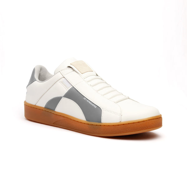 Men's Icon Dots White Gray Leather Sneakers 02983-008 - ROYAL ELASTICS
