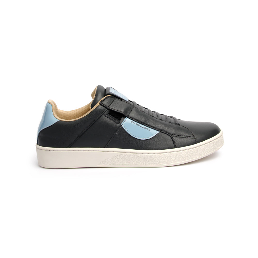 Men's Icon Dots Gray Blue Leather Sneakers 02984-885 - ROYAL ELASTICS
