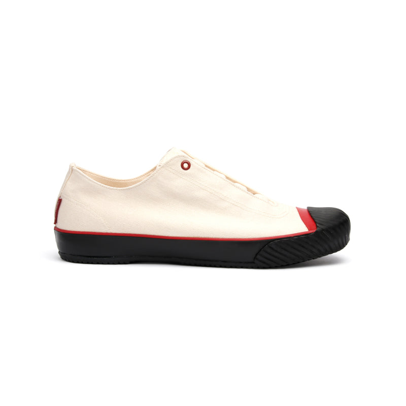 Men's London Beige Black Red Canvas Low Tops 03582-009 - ROYAL ELASTICS