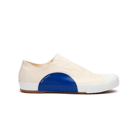 Men's New York Beige Blue Canvas Low Tops 03982-005