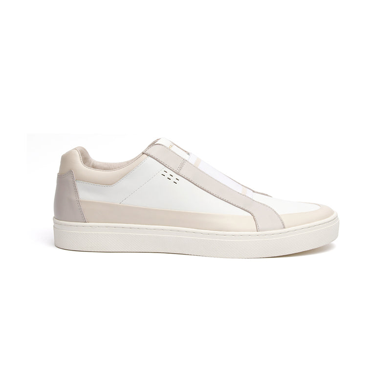 Men's King White Gray Leather Sneakers 04292-008