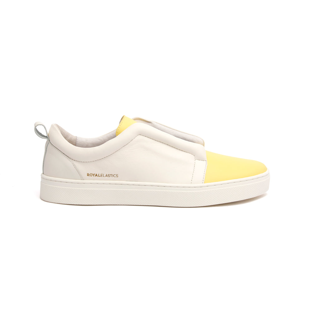 Women's Meister Yellow Leather Low Tops 94383-003 - ROYAL ELASTICS