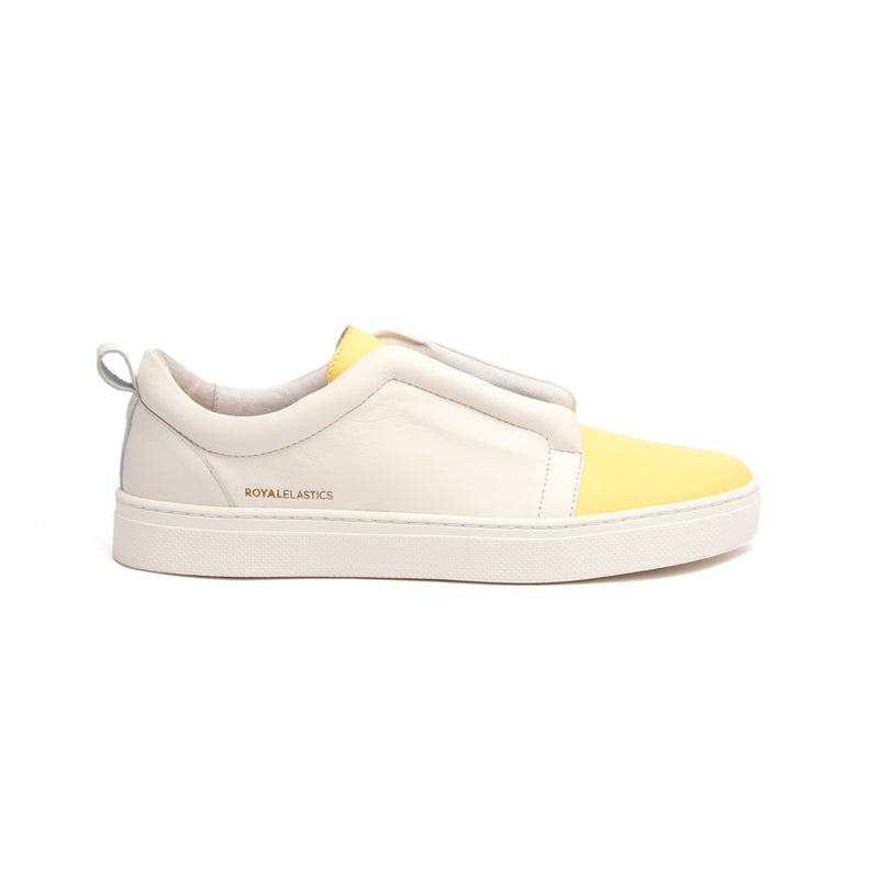 Women's Meister Yellow Leather Low Tops - ROYAL ELASTICS