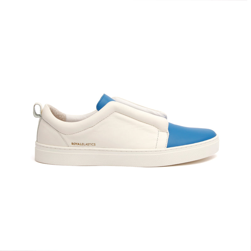Men's Meister Blue Leather Low Tops - ROYAL ELASTICS