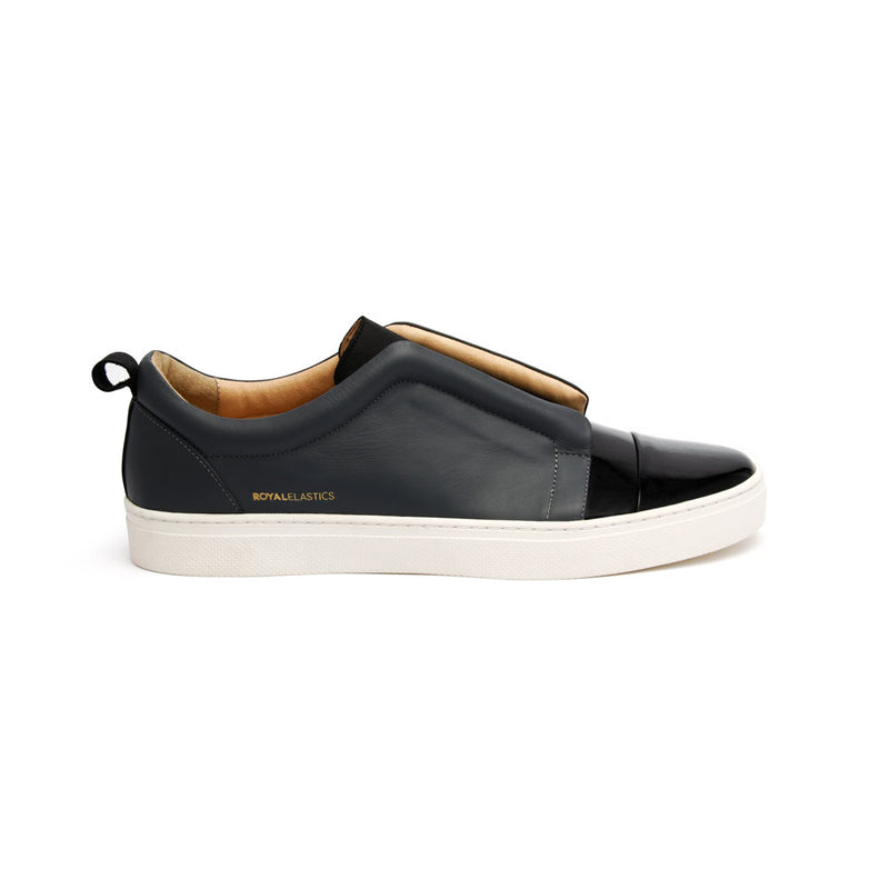 Men's Meister Black Castlerock Leather Low Tops - ROYAL ELASTICS