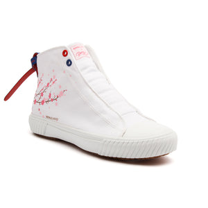 Men's Harajuku Sakura White Canvas High Tops 04783-001 - ROYAL ELASTICS