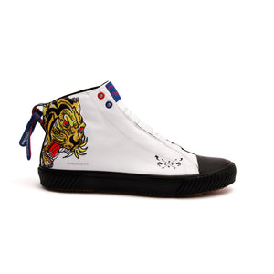 Men's Harajuku Ukiyo-E Tiger Canvas High Tops - ROYAL ELASTICS