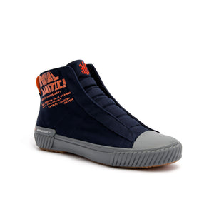 Women's Harajuku Navy Orange Canvas High Tops 94784-551 - ROYAL ELASTICS