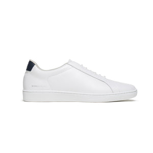 Men's Lume White Black Leather Sneakers 05001-005