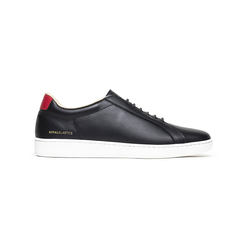 Men's Lume Black Red Leather Sneakers 05001-919