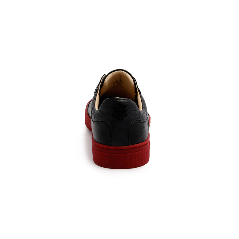 Men's Epiphany Black Red Leather Loafers 06284-991 - ROYAL ELASTICS
