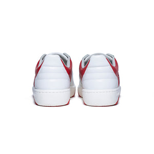 Men's Icon Archer Red White Leather Sneakers 06301-001