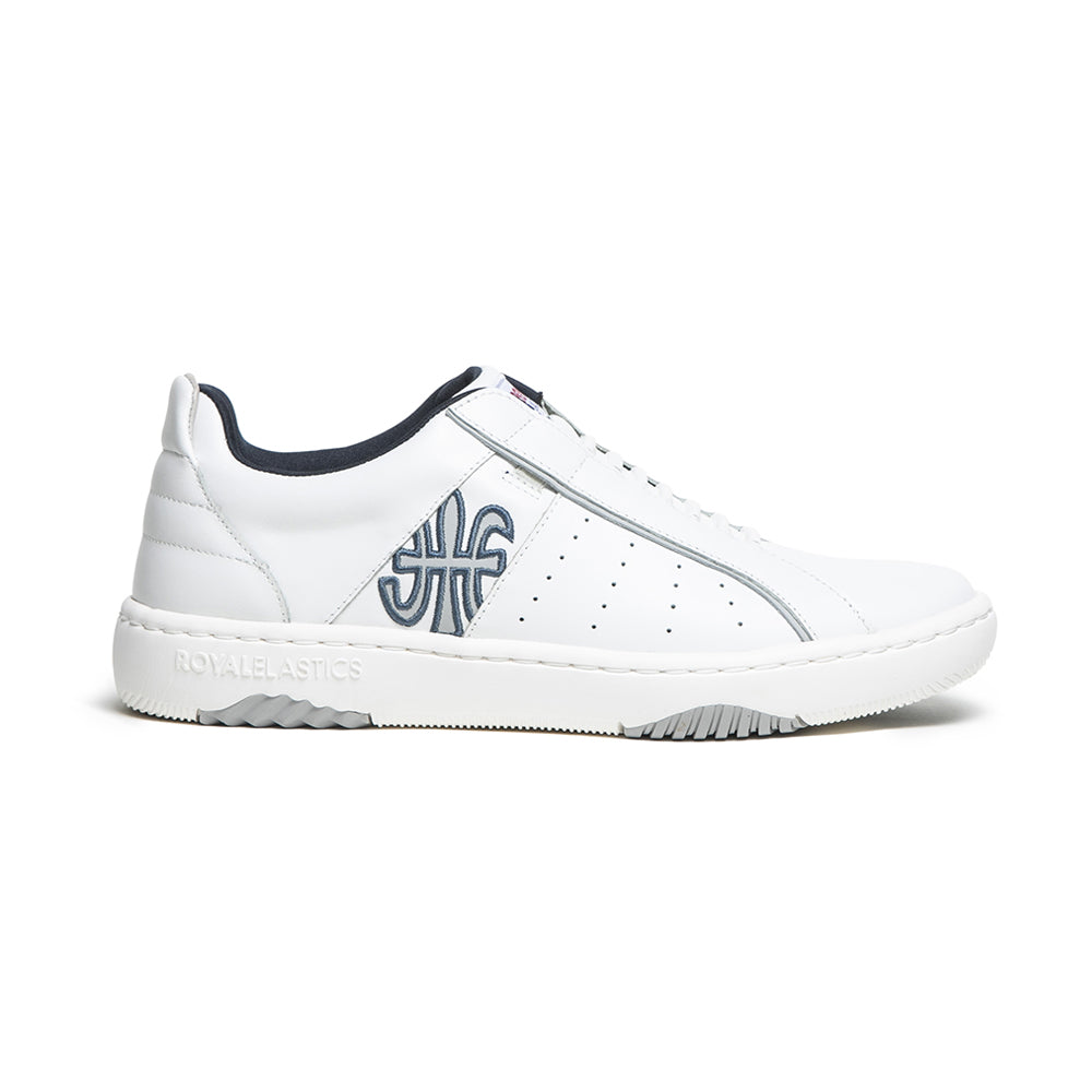 Men's Icon 2.0X White Blue Leather Sneakers 06303-058